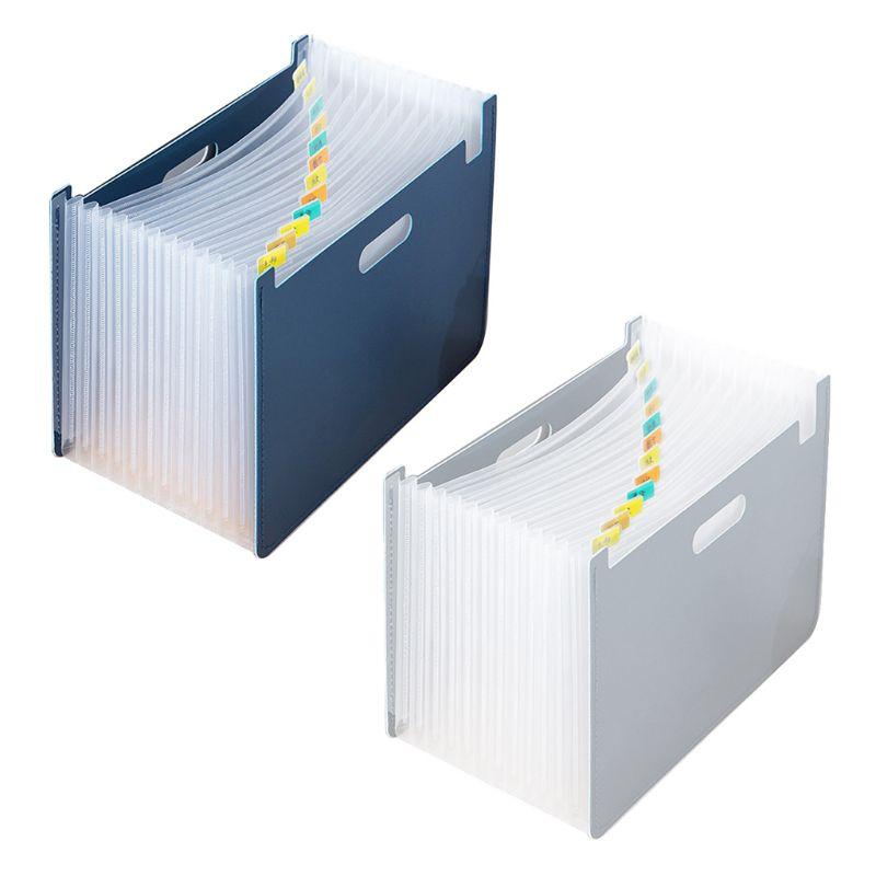 13 Pockets Expanding File Folder A4 Organizer Document Paper Storage Holder School Office Stationery