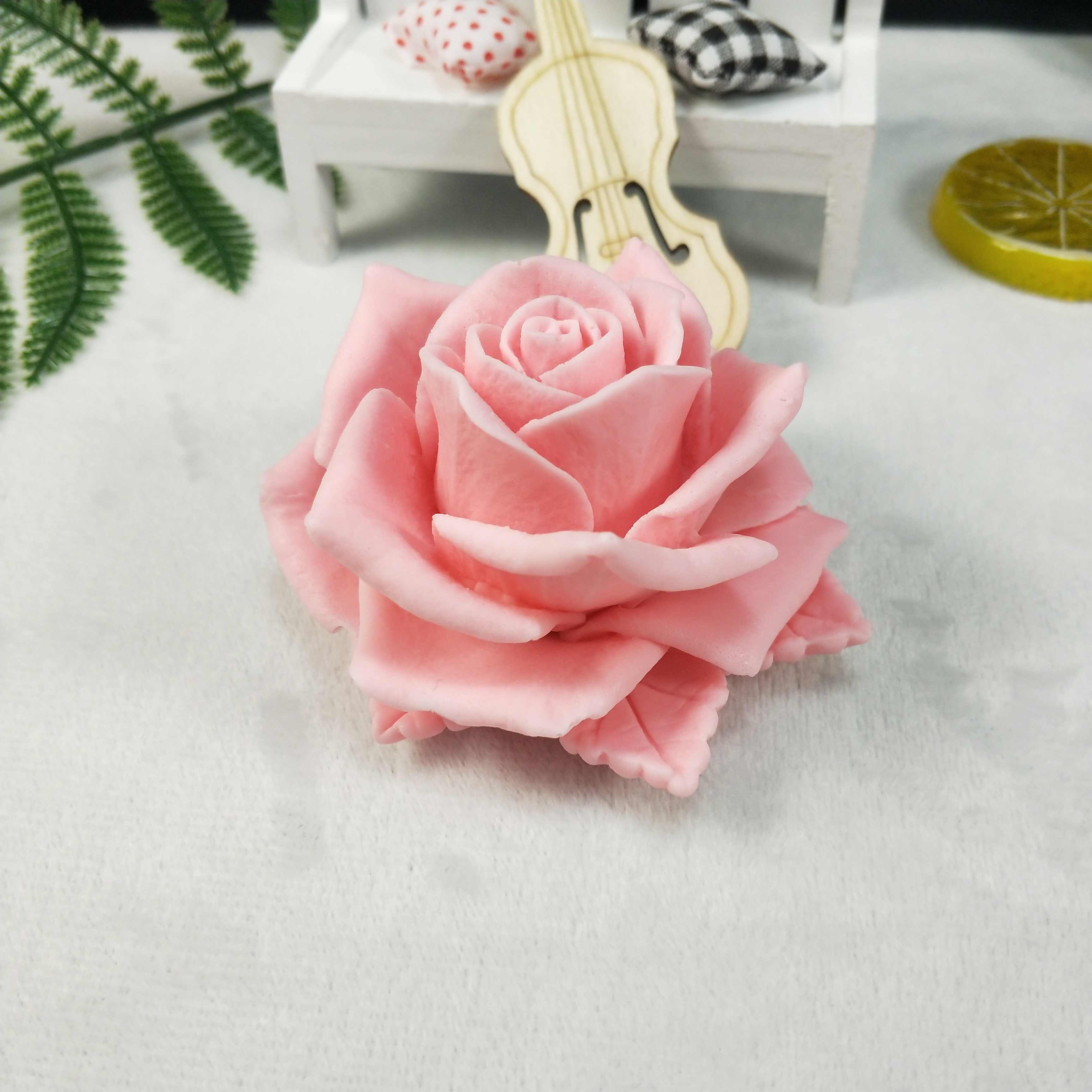 candles chocolate Flower molds Rose molds 3D silicone mold a Big bouquet of  Roses silicone mold for soap gypsum