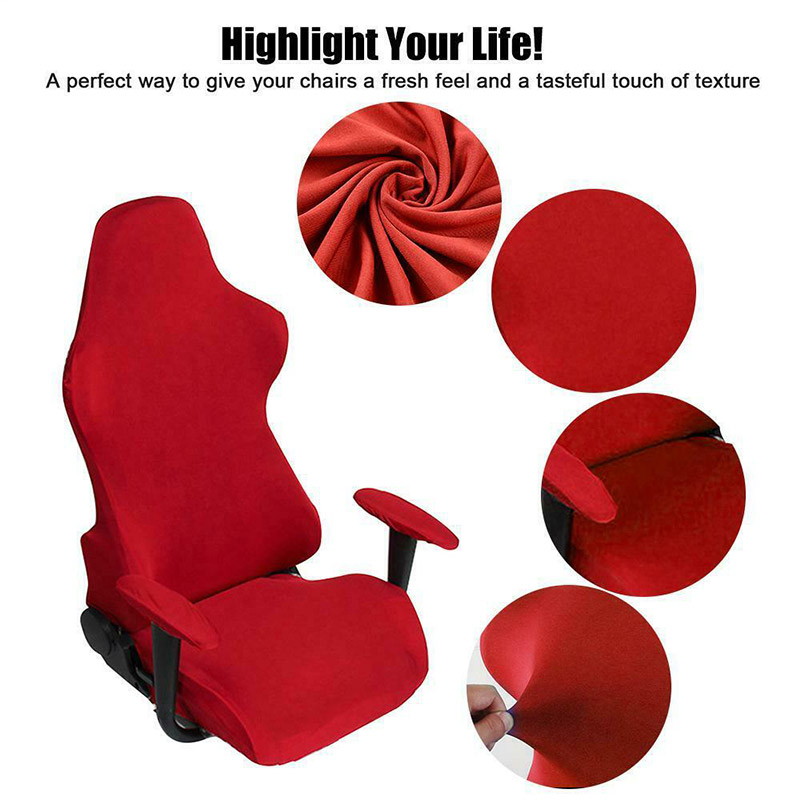 Chair Cover Game Room E-Sports Swivel Chair Slipcover With Armrest Cover DIN889