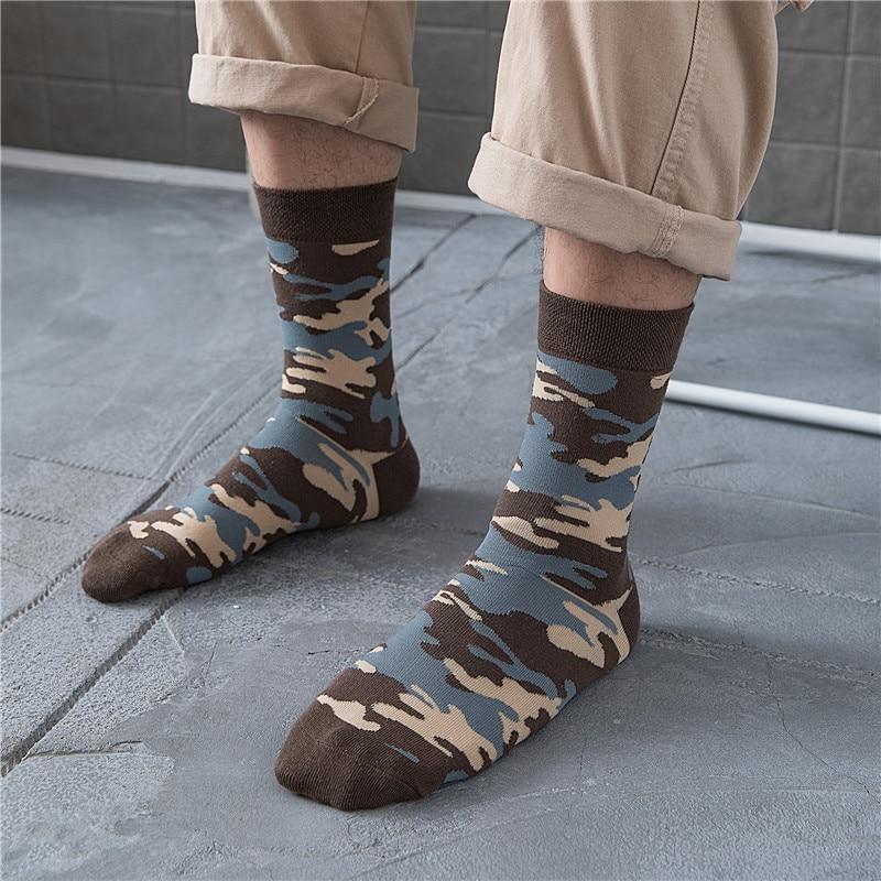 Fashion Cotton Socks Comfortable Breathable Wild Men's Socks 2019 Autumn Winter New Personality Wild Camouflage Men's Crew Socks