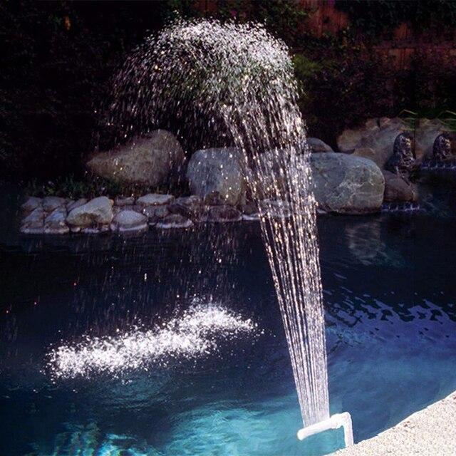 Yüzme havuzu aksesuarları şelale çeşme kiti PVC su püskürtme havuzu Spa süslemeleri yüzme havuzu aksesuarları çeşme tüpü kiti