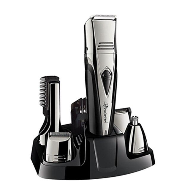 8in1 grooming kit barbeador elétrico para homens recarregável barbeador elétrico corpo groomer trimer barba máquina de barbear aparador sobrancelha