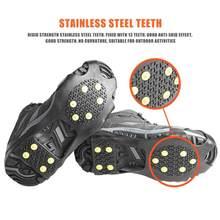 10 goujons Chaussure De Glace Pointes Poignées Crampons Crampons Anti-dérapant Couvre-chaussures