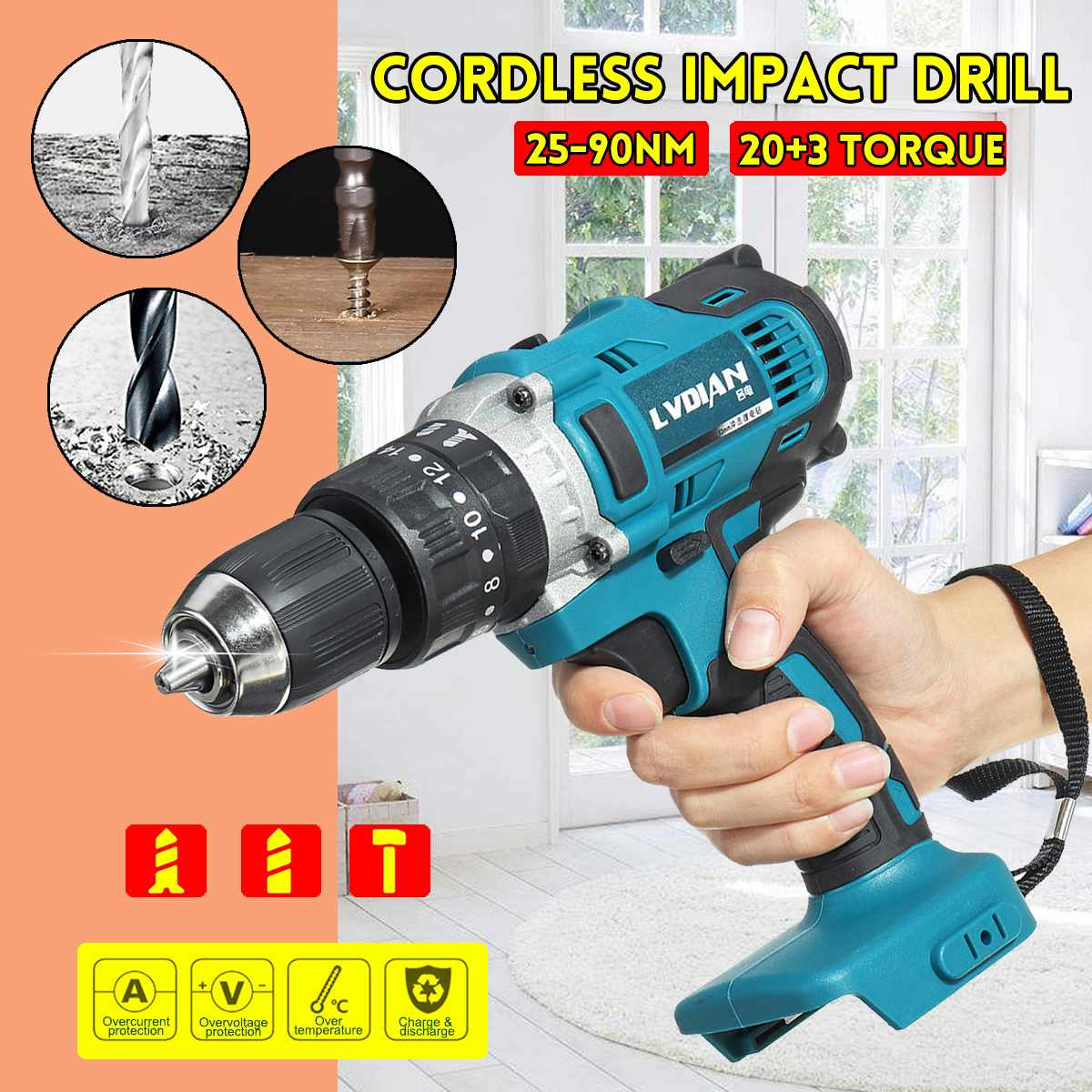 Electric Makita For Battery 13mm 18V Drill Speed Drillpro 2 3 Rechargable Impact Screwdriver Cordless Electric 1 In