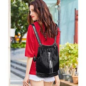 Image 5 - 2019 винтажный рюкзак для женщин, высококачественные кожаные рюкзаки, многофункциональная женская сумка на плечо, школьная сумка высокой емкости для девочек