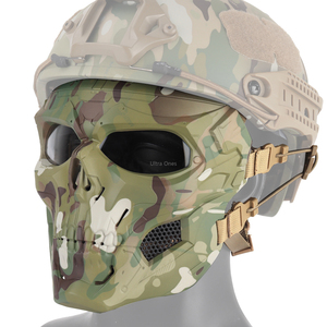 Image 2 - Multicam Tactical Airsoft Skull Mask Paintball Military Combat Full Face Paintball Masks CS Game Face Protective Tactical Mask