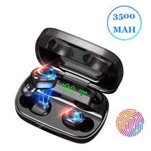 Bluetooth Earphone Headset Power-Bank Ipx7 Waterproof Stereo 9D Wireless with 3500mah