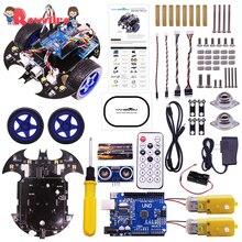 Rowsfire летучая мышь умный робот проект автомобиля полный стартовый учебник высокотехнологичная программируемая игрушка для Arduino тестовый комплект для детей и взрослых