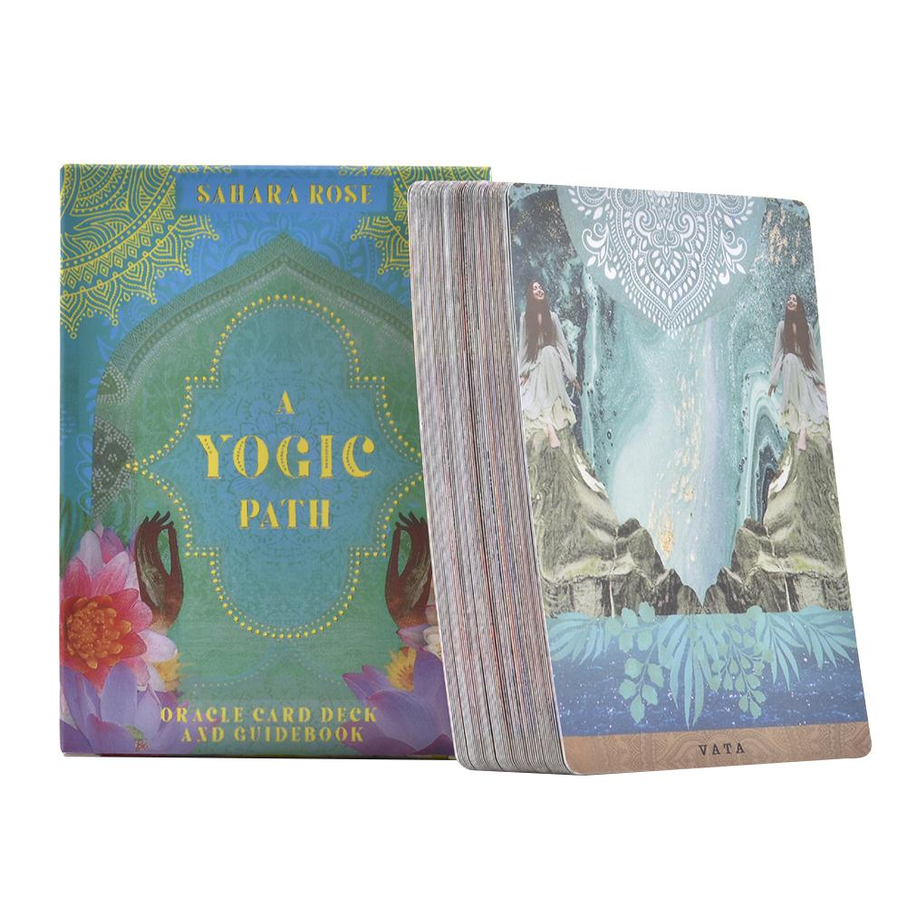 54Pcs A Yogic Path Oracle Deck And Guidebook English Board Games Card Family Party Entertainment Tarot Cards Oracle