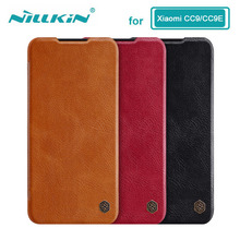 Caes for Xiaomi Mi 9 Lite CC9 CC9E CC 9 9E Nillkin Qin Series PU Leather Flip Cover For Xiaomi Mi A3 Case