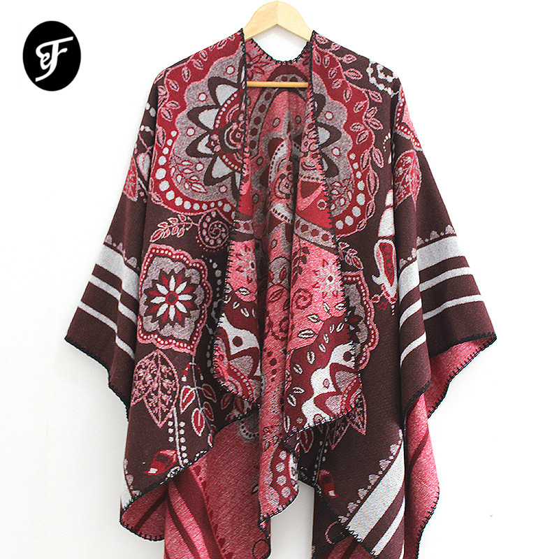 Women Plus Size Camouflage Fleece Pashmina Poncho Blanket Cardigan Scarves Shawls