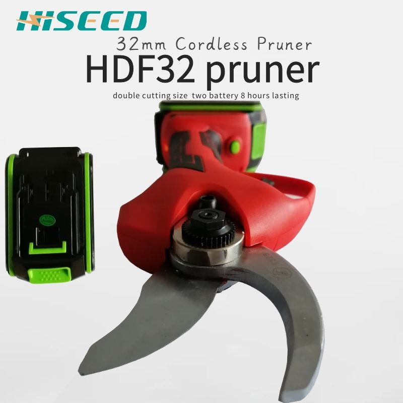 HISEED 22V Electric Garden Pruner Scissors Cordless Electric Pruning Shears Branch Cutter Electric Fruit Pruning Tool
