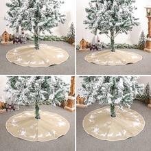 Cover Tree Skirt Decoration Christmas-Tree Festival-Props Floor-Mat
