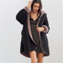Women clothes 2019  Autumn Winter Overcoat plus size faux fur coat soft fake fur coat Pocket Teddy Outwear artificial fur coats amazon top sale pullover multicolor coat women overcoat faux fur winter coats