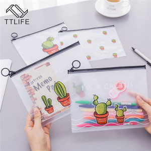 Image 1 - VOGVIGO Waterproof PVC Cactus Transparent Drawstring Bags Travel Makeup Case Study Office Stationery Bag Bath Organizer Pouches