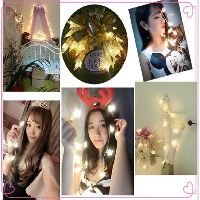 Star Lights Birthday Gift Colored Girls Heart Starry Led Room Christmas Festival Decoration Decorativ Party Essentials