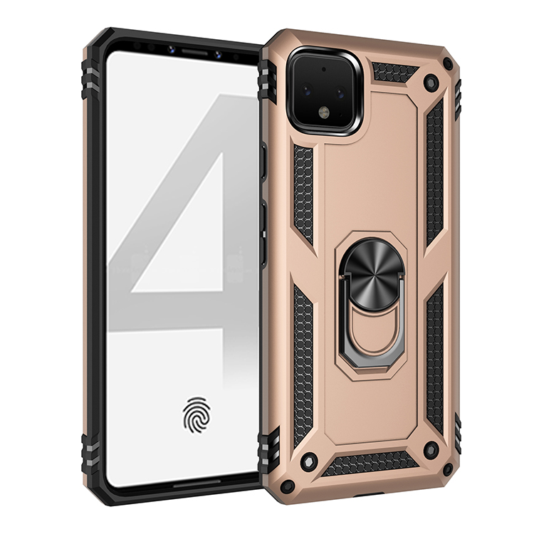 Luxurious Hard Anti-Fall Dust-Proof Shockproof Protective Magnetic Phone Case For Google Pixel 3A 4 XL Stand With Ring Covers