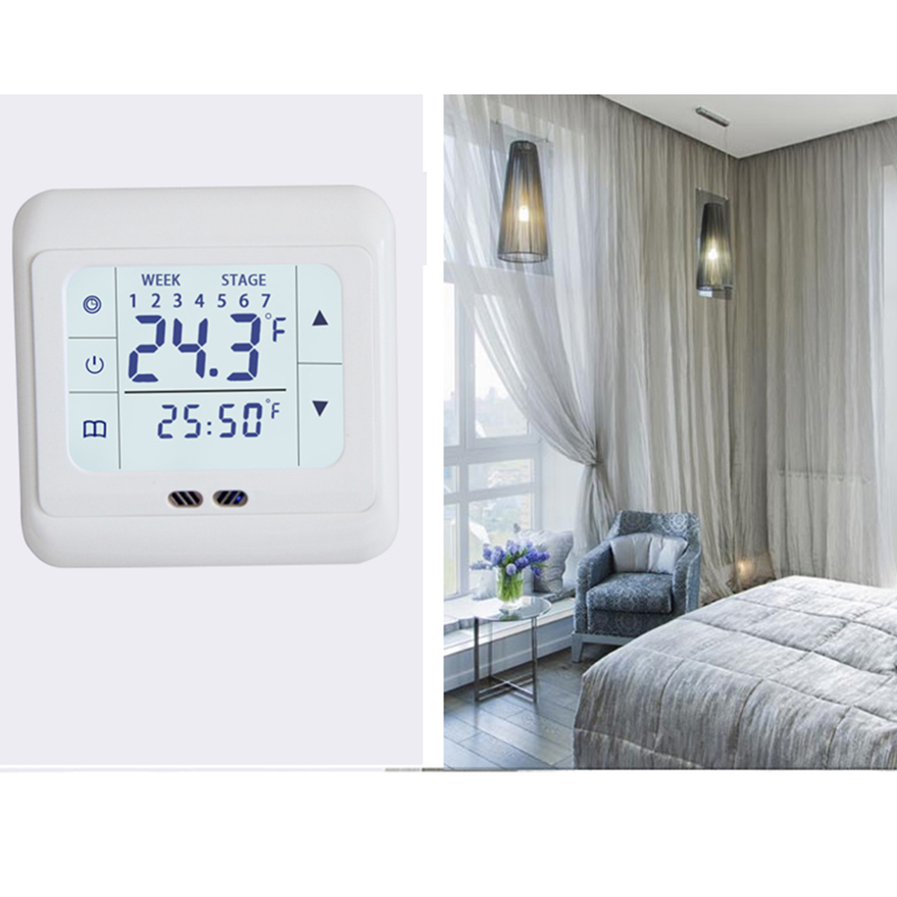 1pcs Thermoregulator Touch Screen Room Heating Thermostat Underfloor Heating For Electric Heating System Temperature Controller