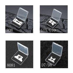 2/10/50/100/500 pces lâmina movente cerâmica com caixa para cordless clipper d8 t-outliner 8081 detailer gto lâmina substituível