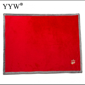 Red Pet Blanket Beds Dog Cat P