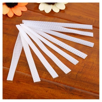 100 pcs Make Up Brush Pen Netting Cover Mesh Sheath Protectors Guards Protective cover Sheath Net (White)