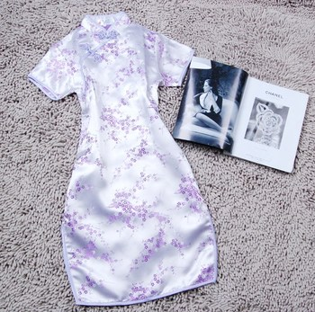 Summer New Short Sleeve Women Qipao Chinese Style Mandarin Collar Cheongsam Cheongsam Elegant Light Purple Vestidos PLUS 5XL 6XL традиционное китайское платье brand new peking cheongsam ccw005