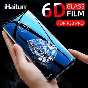 Image 1 - Ihaitun Cao Cấp 6D Kính Cường Lực Cho Huawei P40 Pro PE Lite Mate 30 P30 Pro P20 Giao Phối 20 Kính Cường Lực Bảo Vệ Màn Hình Trong Cho Huawei Mate20 P 30 bao Bọc Toàn Bộ Phim