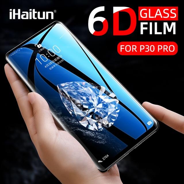 Ihaitun Cao Cấp 6D Kính Cường Lực Cho Huawei P40 Pro PE Lite Mate 30 P30 Pro P20 Giao Phối 20 Kính Cường Lực Bảo Vệ Màn Hình Trong Cho Huawei Mate20 P 30 bao Bọc Toàn Bộ Phim