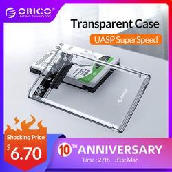 ORICO 2139U3 2.5 inch Trong Suốt USB3.0 để Sata 3.0 HDD Trường Hợp Công Cụ Miễn Phí 5 Gbps Hỗ Trợ 2 TB UASP Giao Thức Ổ cứng Bao Vây