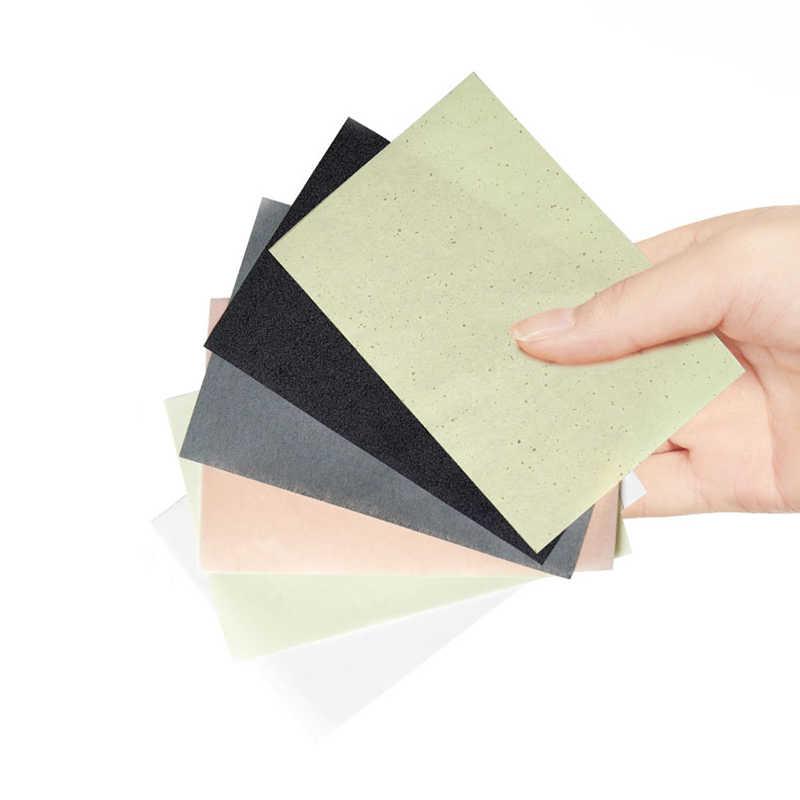 100 feuilles de papier absorbant l'huile de visage menthe bambou charbon de bois rose camomille contrôle de l'huile Fibres végétales buvard outils de maquillage TSLM1