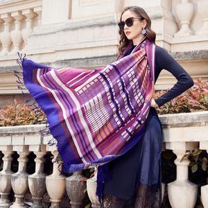 Image 1 - Wool Women Scarves Stoles Elegant Carf Warm Shawl Bandana Scarf Luxury Brand Muslim Hijab Beach Blanket Face Shield Foulard
