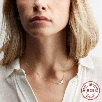 ¡Novedad de 2019! Collar de Paloma voladora de La Paz ROXI, collares y colgantes de cadena de clavícula para mujer, collar de plata esterlina Maxi 925