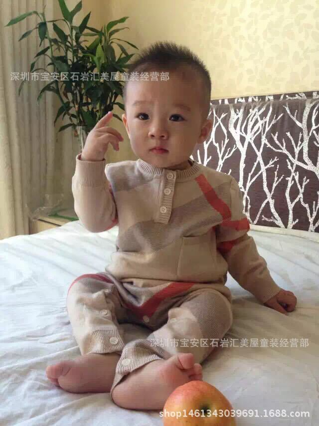 New Born Baby Clothes Long Sleeve Winter Fall Spring Set 0-3 Month Rompers Knitting Jumpsuits Plaid Knitted Cotton Clothes A Hat