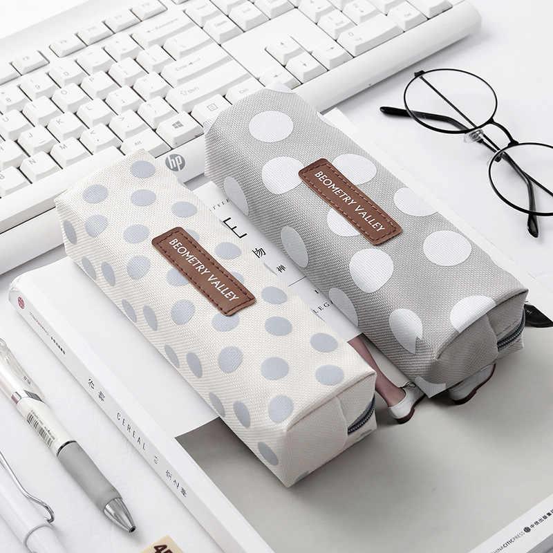 Nette Kawaii Leinwand Bleistift Fall Hohe Kapazität Stift Taschen Nette Brief Bleistift Taschen Für Mädchen Geschenk Schule Liefert Koreanische Schreibwaren
