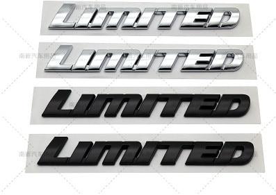 1X Автомобильный 3D хромированный Черный ABS стикер, роскошный лимитированный выпуск, эмблема с надписью Logol, подходит для Toyota high Lander