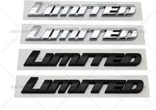 1x carro 3d chrome preto abs crachá adesivo de luxo edição limitada carta emblema logol apto para toyota highlander