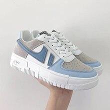2021 mulher quente tênis branco sapatos femininos senhoras casual plataforma sneaker apartamentos respirável feminino vulcanizado sapatos tamanho 41 42