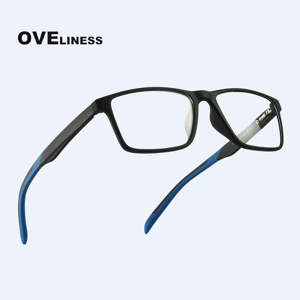 TR90 Glasses Frame Men Myopia Prescription Computer Spectacle Frames Women Ultra Light Square Eyeglasses Frames For Men Eyewear