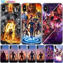 Fashion Marvel Super Heroes Avengers: Endgame Iron Man Phone Case Cover For iPhone XS Max XR X 7 6s 8 Plus 5S case cover etui
