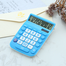 Solar Calculator Button-Battery Lcd-Display 12-Digits Portable Study-Tool Amp Dual-Power-Supply