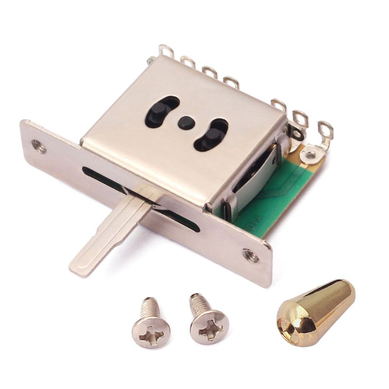 Heavy Duty 5 Way Pickup Switch with Knob for Electric Guitar Parts Replacement