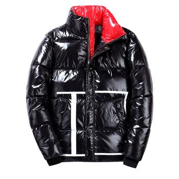 Jesień i zima gorące nowe mody męskie kurtki kurtki i płaszcze męskie grube ciepłe stoisko kołnierz moda jasne męskie kurtki zimowe tanie i dobre opinie JUCHU TOP CN (pochodzenie) Silk-jak Bawełna COTTON Poliester REGULAR 1912-1-1 Satyna zipper NONE Szczupła Kieszenie Stałe
