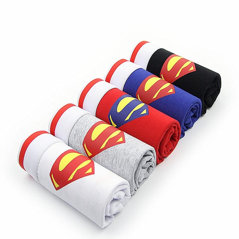 Boxer Man Cotton Men Boxers Underwear Breathable Men's Underwear Superman Cartoon Shorts Male Underpants For Man
