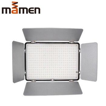 MAMEN KM-600 3200K/5600K Video Fill Light Studio Light With 600 Pcs LED Beads Remote Control For Canon Nikon Sony DSLR Camera