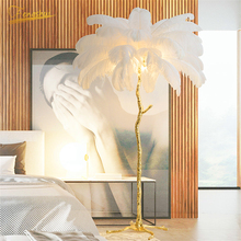 Nordic Floor Lamps for Living Room Bedroom Modern Ostrich Feather Living Room Interior Lighting Decor Floor Lamp Standing Lamp nordic ostrich feather living room led floor lamps living room bedroom modern interior lighting decor floor light standing lamp