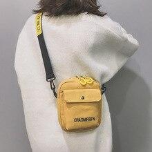 2020 new female bag small black canvas bag female tide fashion messenger bag retro student shoulder цена 2017