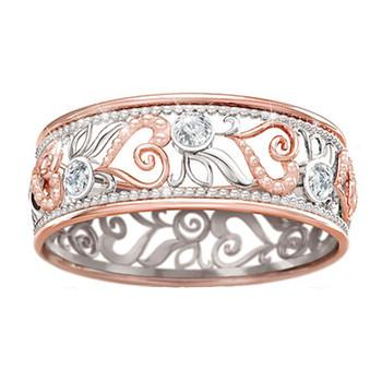 Nowe kobiety Fashion Design Hollow przez kwiat pierścień z sercem nowy Hollow przez kwiat pierścień z sercem 5 ~ 11 biżuteria prezenty tanie i dobre opinie OTOKY CN (pochodzenie) Ze stopu cynku Metal Klasyczny Obrączki ślubne GEOMETRIC ring Ustawienie napięcia moda Na imprezę