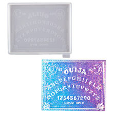 2020 Crystal Epoxy Resin Mold Divination Board Psychic OUIJA Board Silicone Jewelry Mold Pendant Silicone Mold(China)