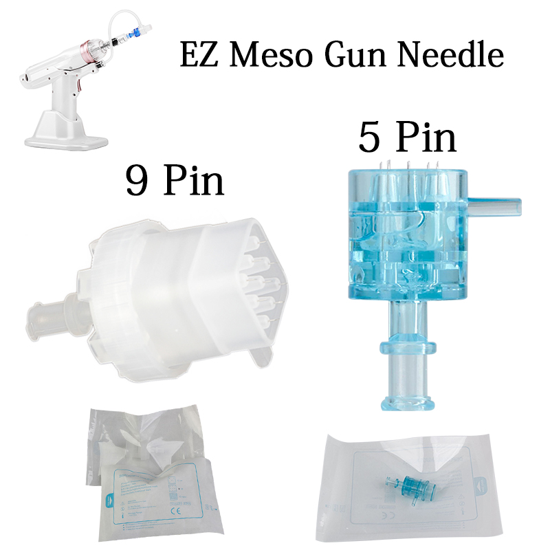 5/9 Pins Disposable Injection Pinhead For Meso Gun, Negative Pressure Cartridge Needles Tip For EZ Vacuum Mesotherapy Masogun
