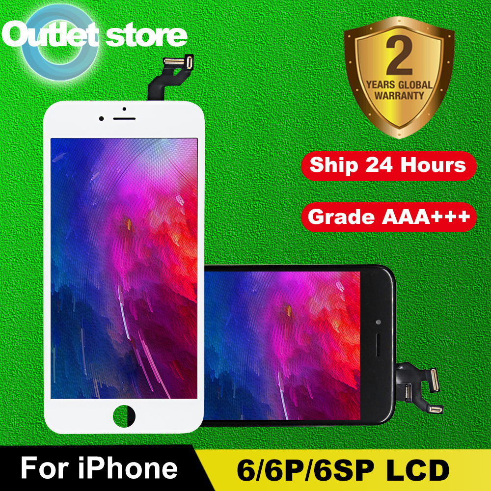 ЖК-дисплей AAA +++ для iPhone 6, 6S, ЖК-экран с идеальным 3D сенсорным экраном, дигитайзер в сборе для 6Plus, 6S, 7, 8 Plus, дисплей